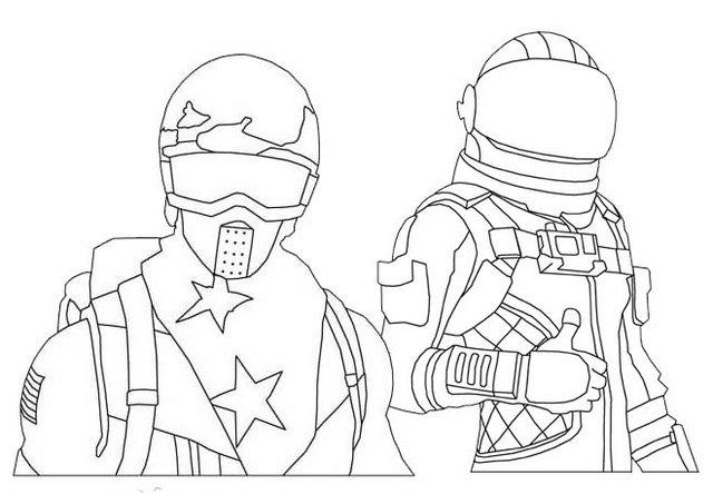 Fortnite Alpine Ace And Rogue Agent Skin Coloring Page