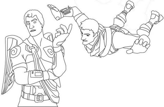 Fortnite Battle Royale Gameplay Coloring Page