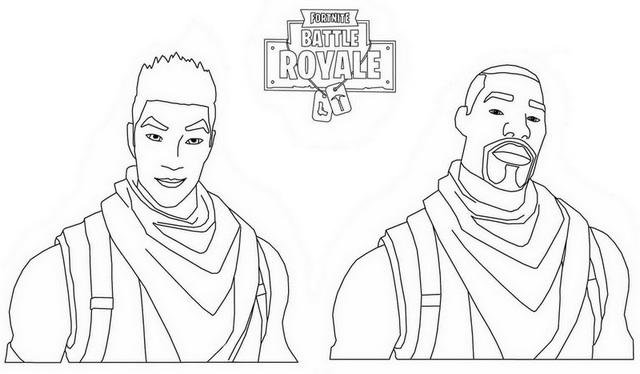 Fortnite Battle Royale Guy Coloring Page