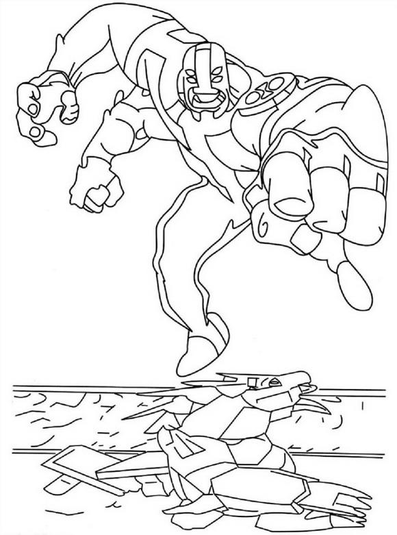 Four Arms Ben 10 Coloring Pages