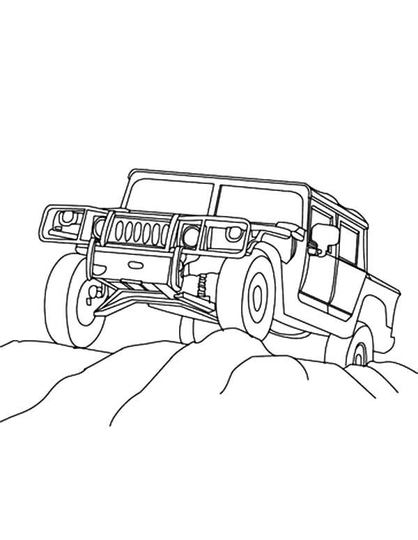 Four Wheel Drive Army Car Coloring Pages