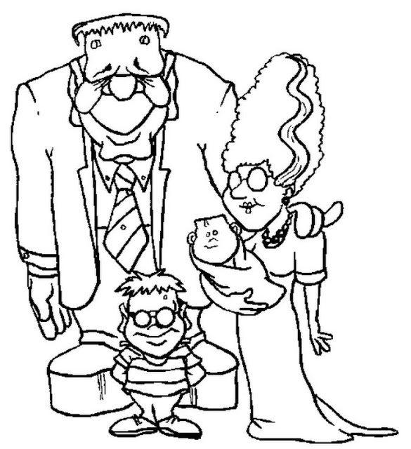 Frankenstein Halloween Coloring Pages Printable Kids