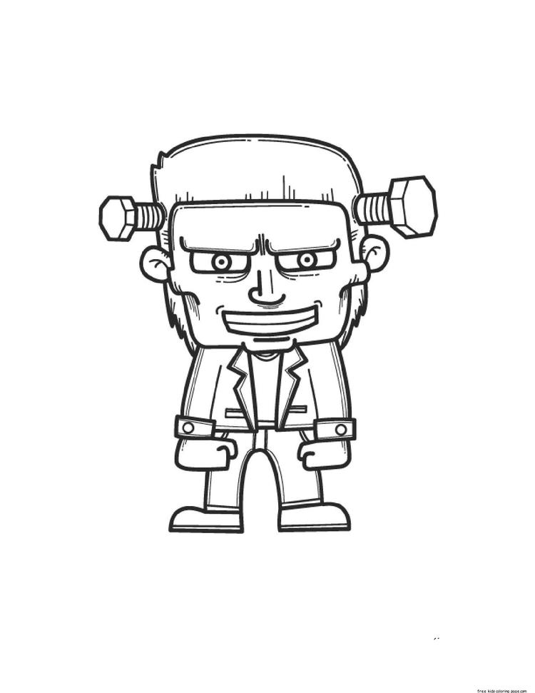 Frankenstein Printable Coloring Pages Halloween