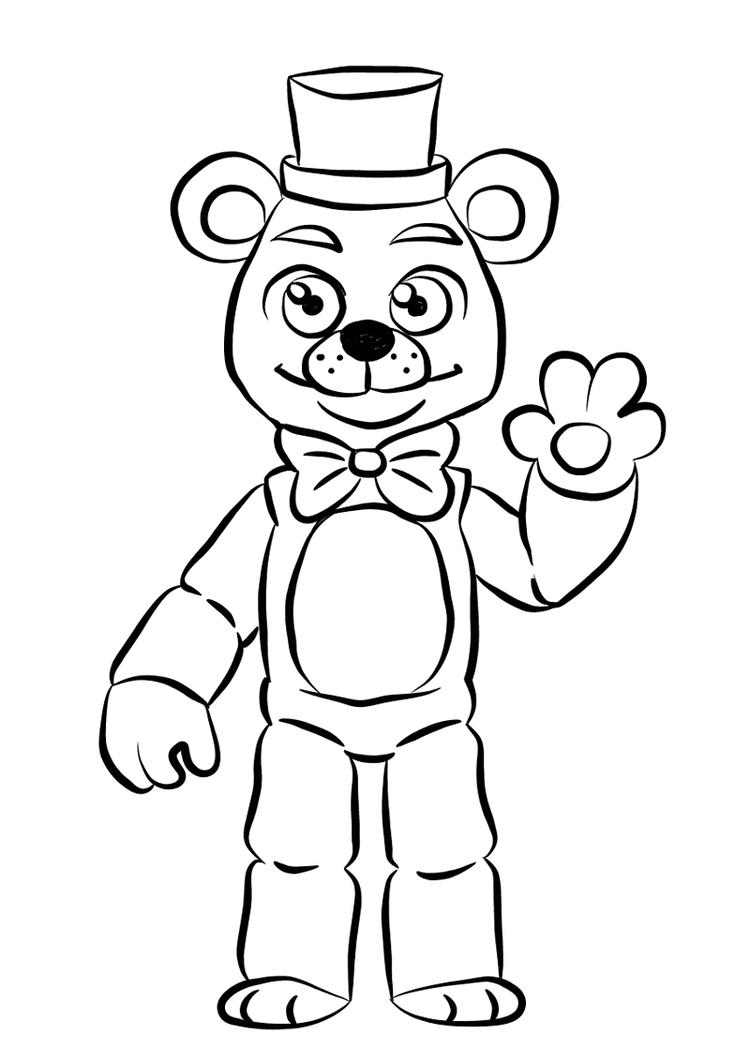 Freddy From Fnaf Coloring Page For Kids