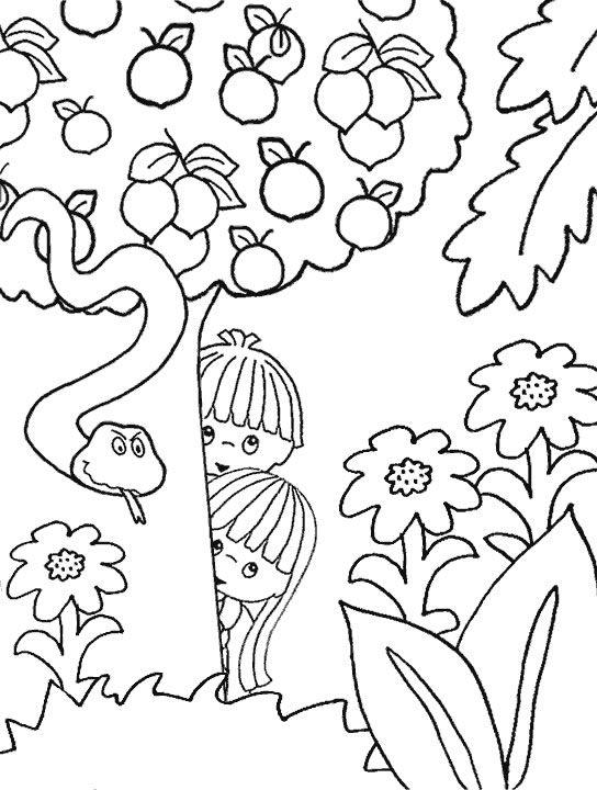 Free Adam And Eve Coloring Pages For Kids