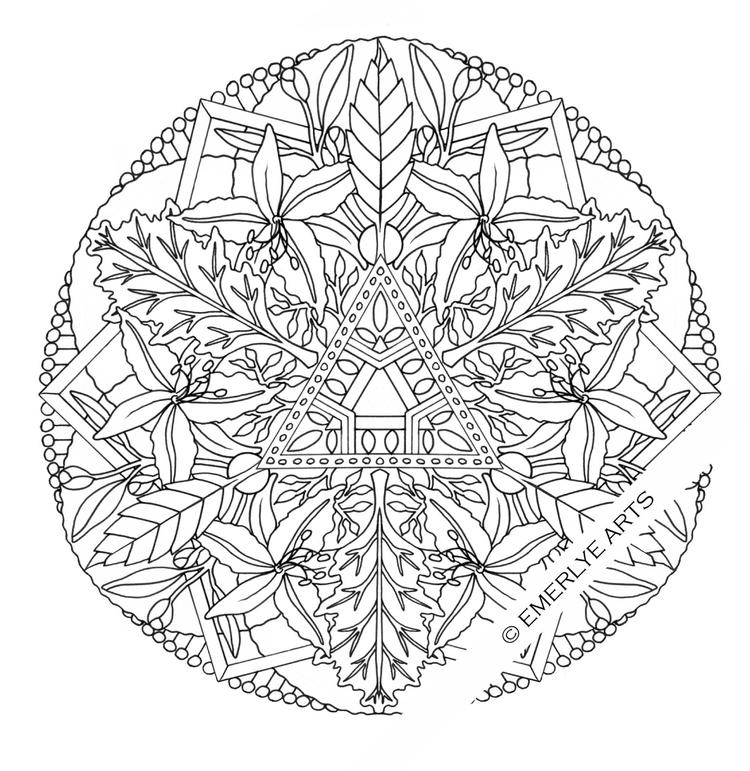 Free Adult Flower Coloring Pages Printable 3