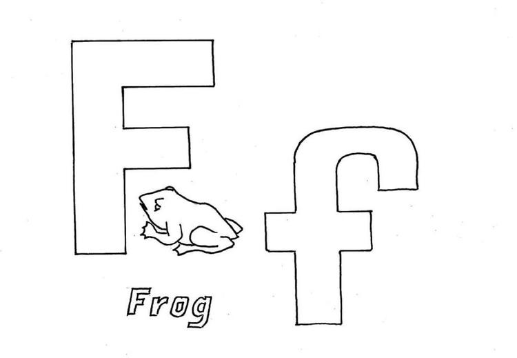 Free Alphabet Coloring Pages Animal Frog