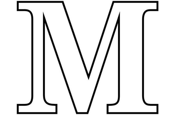 Free Alphabet Coloring Pages Printable Letter M