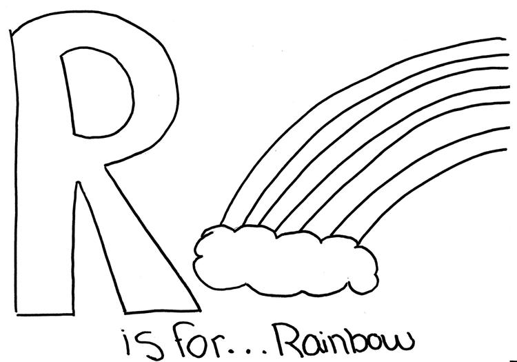 Free Alphabet Coloring Pages Rainbow