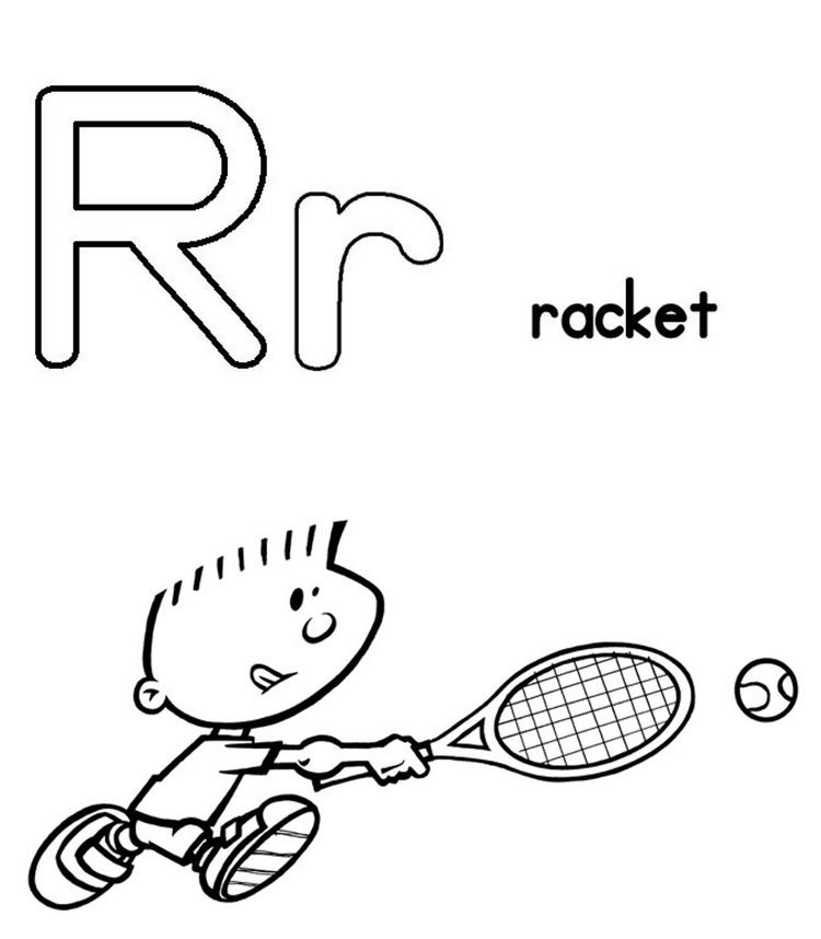 Free Alphabet Coloring Pages Rocket