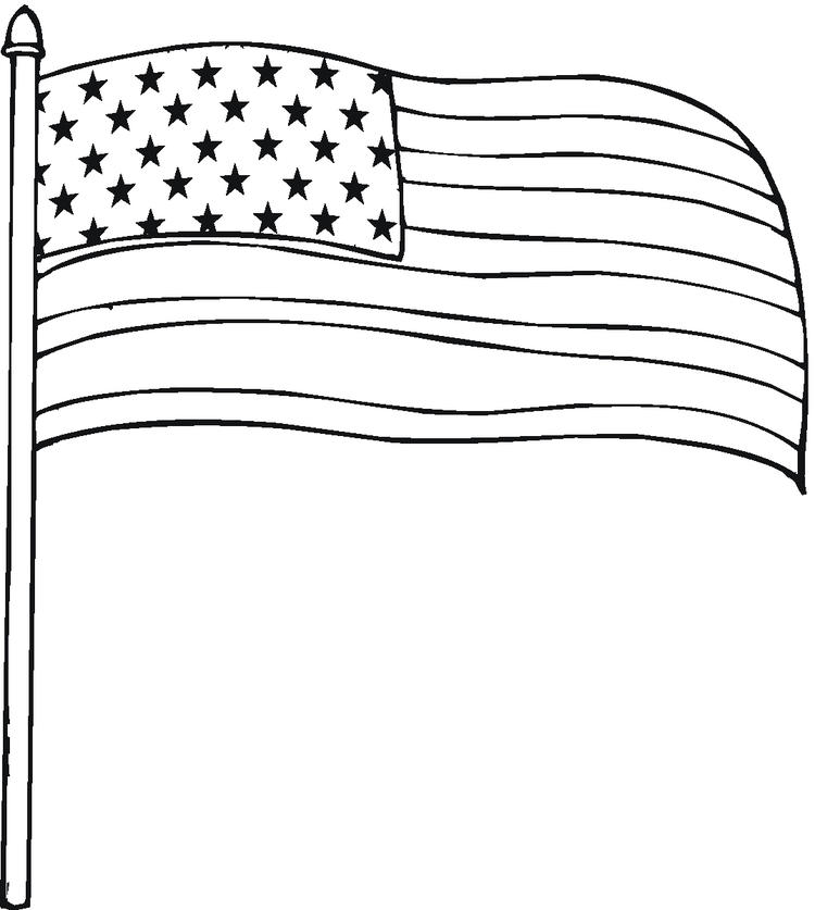 Free American Flag Coloring Pages To Print