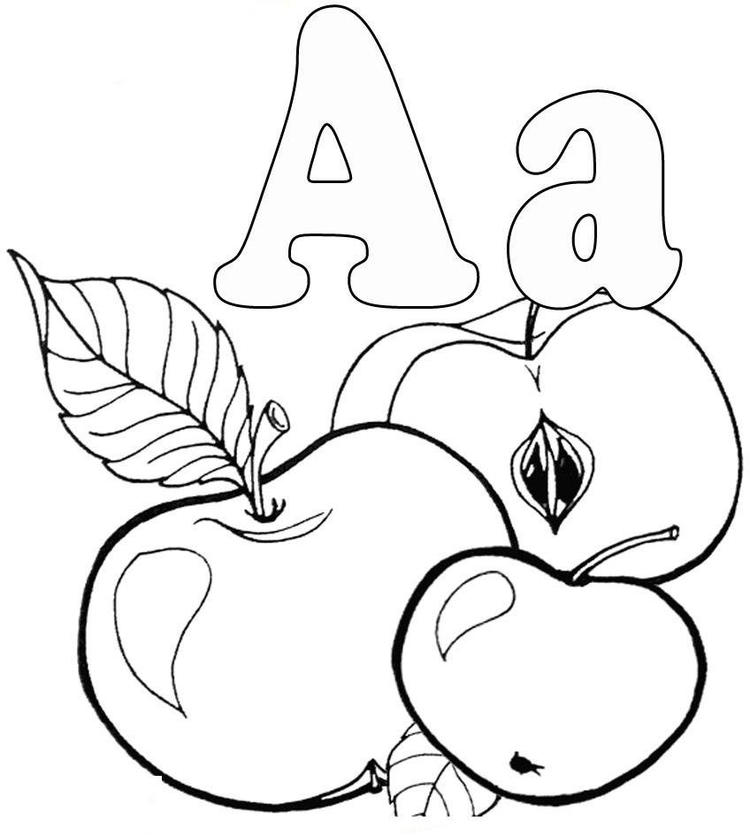 Free Apple Alphabet Coloring Pages Printable1