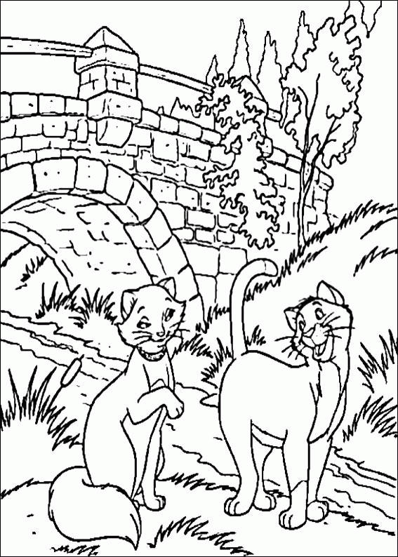 Free Aristocat Coloring Pages