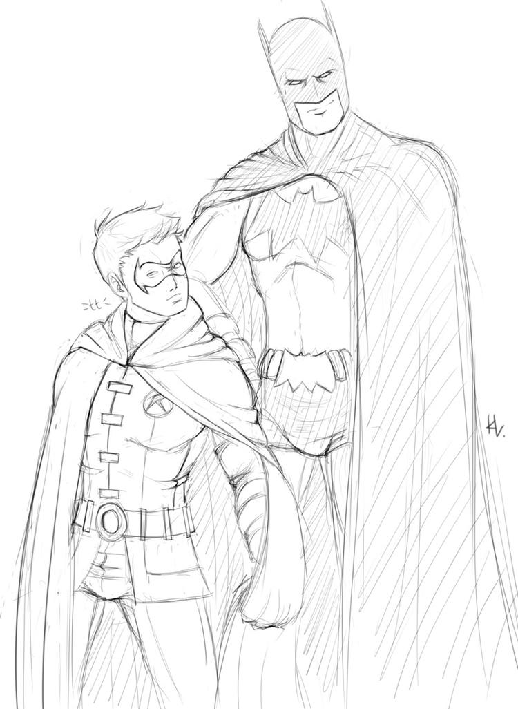 Free Batman And Robin Coloring Pages
