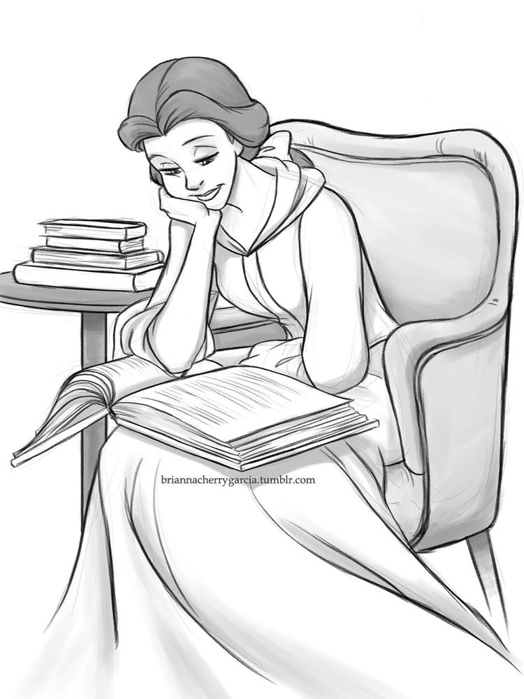 Free Belle Face Coloring Pages For Preschool