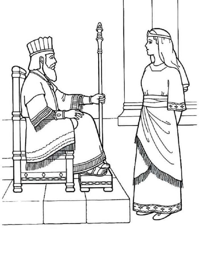 Free Bible Queen Esther Coloring Pages