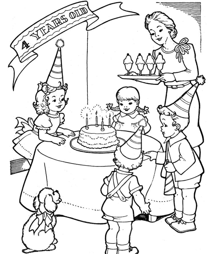 Free Birthday Coloring Pages For Children