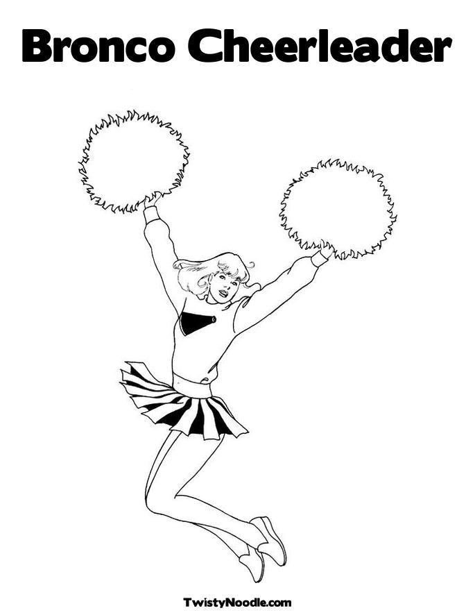 Free Bratz Cheerleading Coloring Pages 2