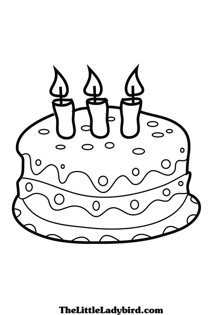 Free Cake Coloring Pages