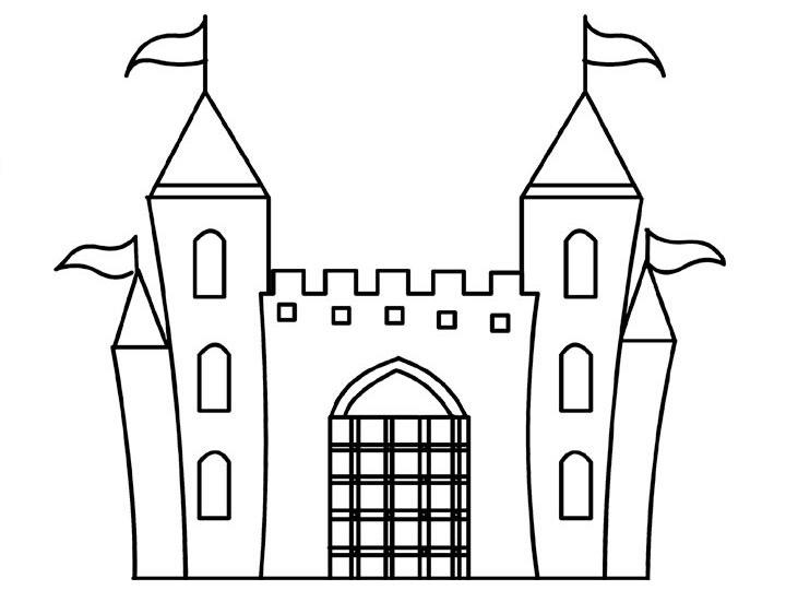 Free Castle Coloring Pages For Kids
