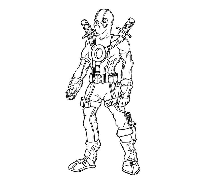 Free Chibi Deadpool Coloring Pages