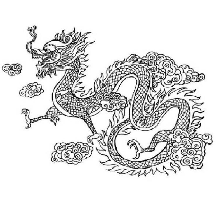 Free Chinese New Year Dragon Coloring Page