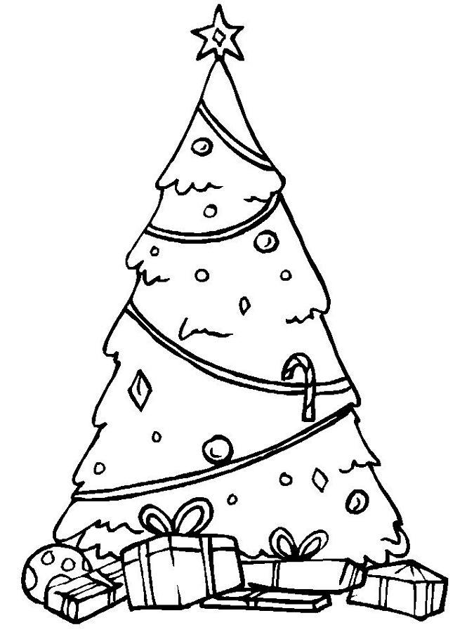 Free Christmas Tree Colouring Pages For Kids