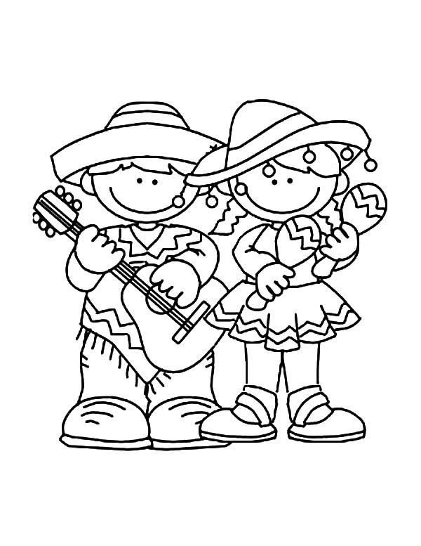 Free Cinco De Mayo Coloring Pages For Kids