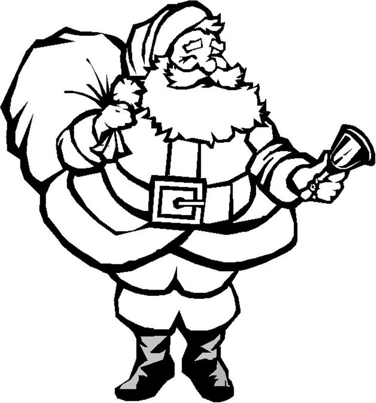 Free Coloring Pages Christmas Santa For Kids