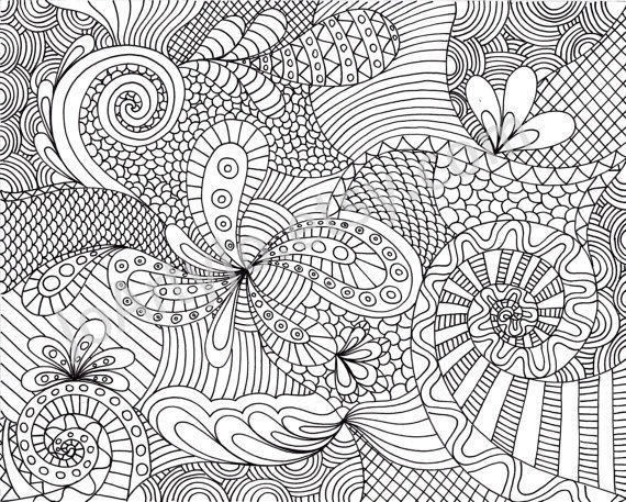 Free Coloring Pages For Adults Abstract Flowers 1