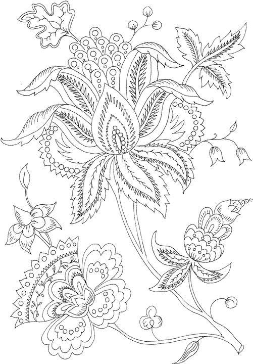 Free Coloring Pages For Adults Abstract Flowers 3