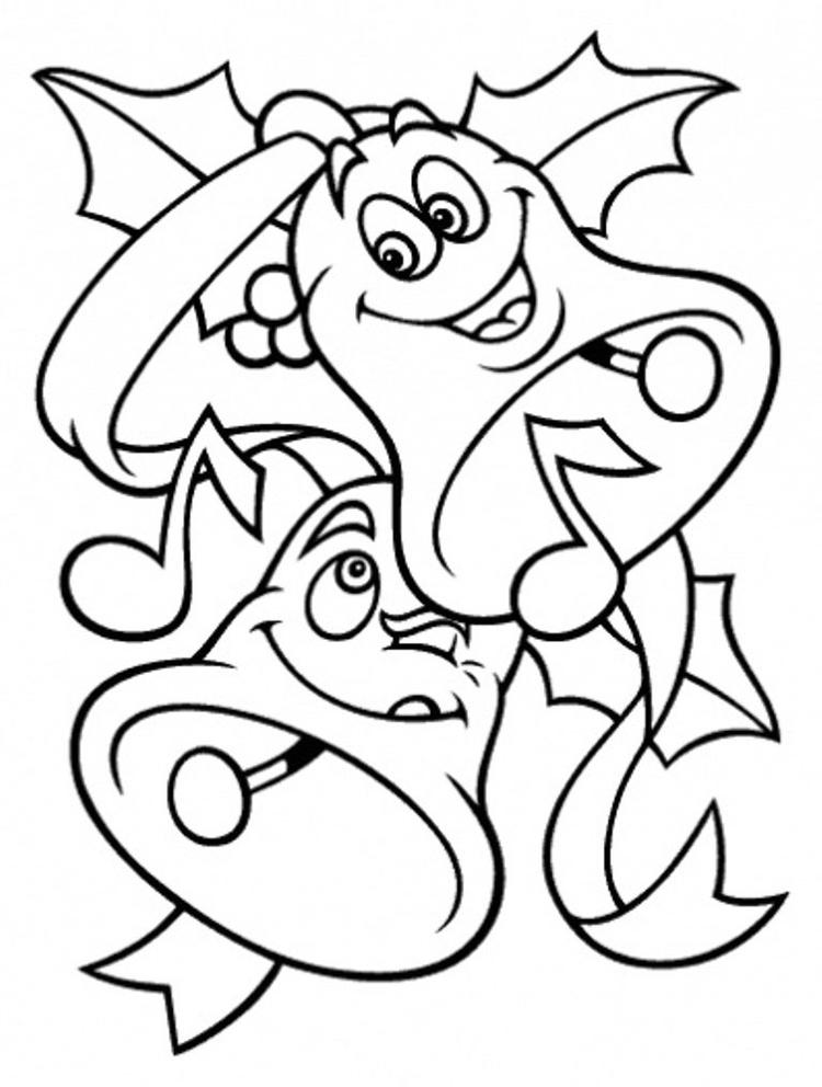 Free Coloring Pages For Christmas Bells For Kids