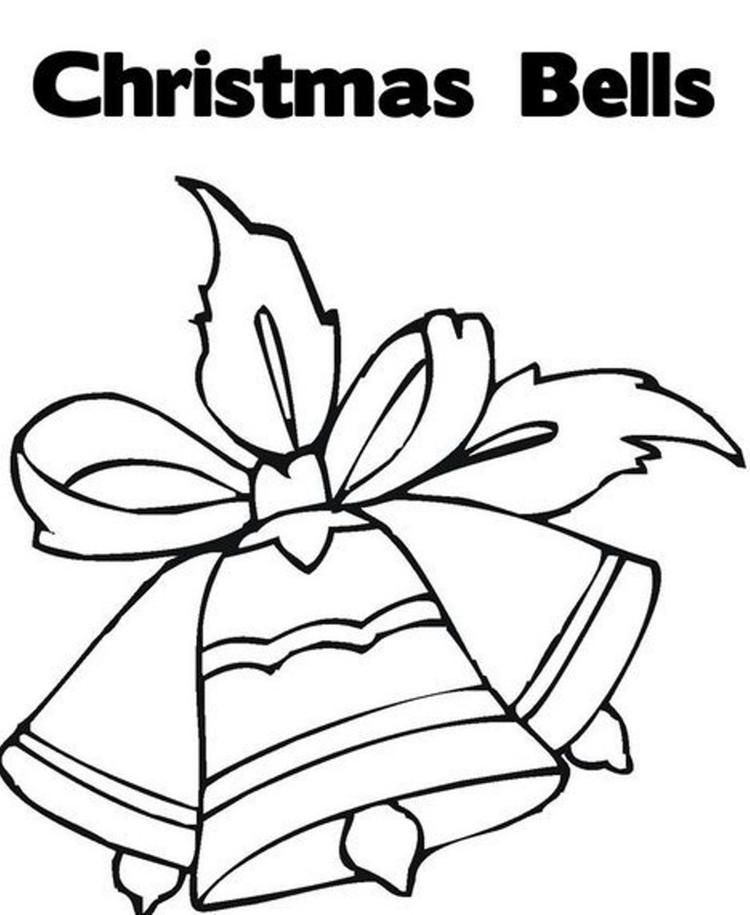 Free Coloring Pages For Christmas Ornament Bells