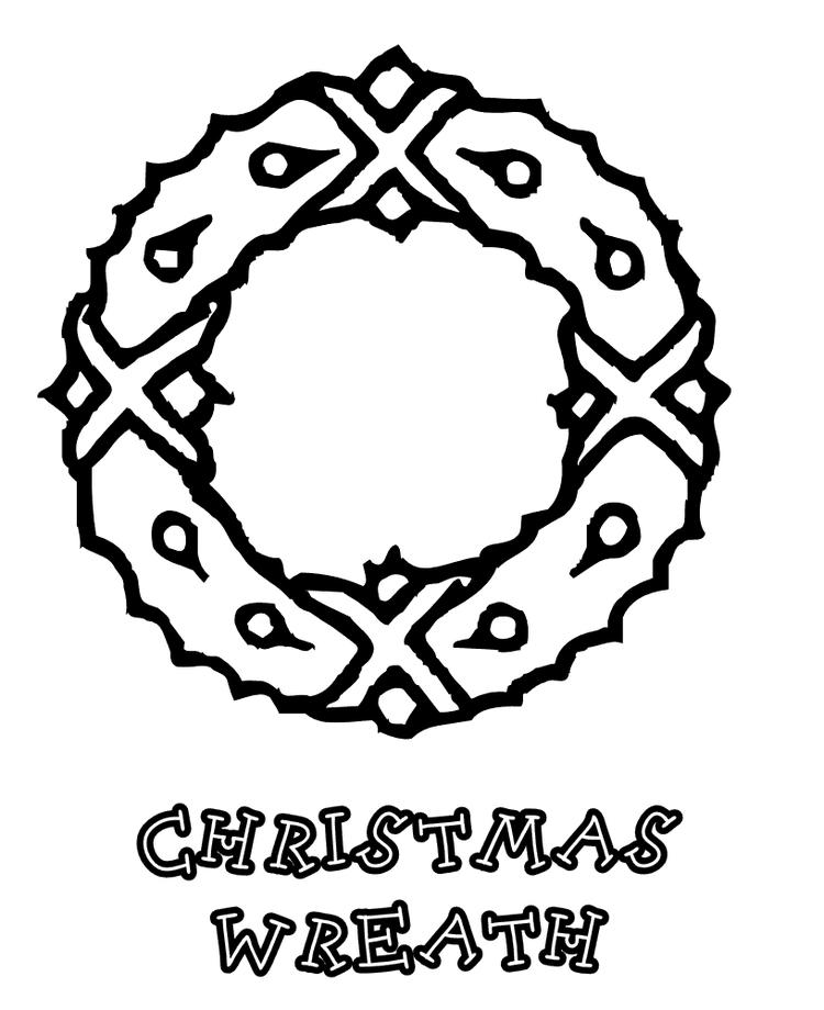 Free Coloring Pages For Christmas Wreath Printable