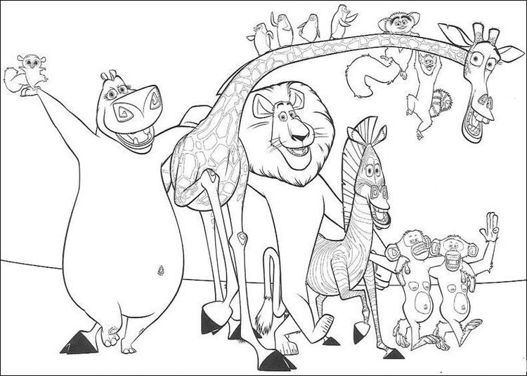 Free Coloring Pages For Kids Madagascar 2