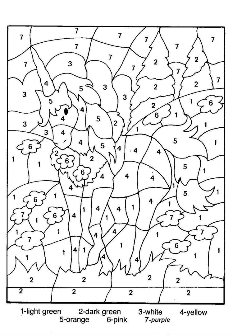 Free Coloring Pages For Teenagers Difficult Color By Number 1