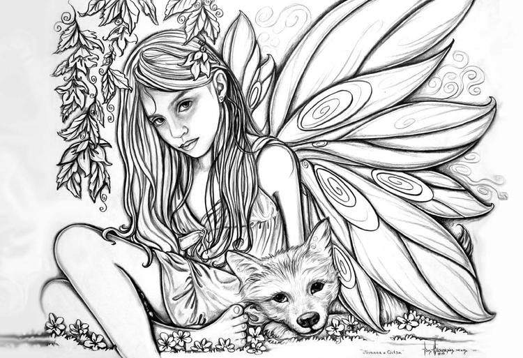 Free Coloring Pages For Teenagers Difficult Fairy 1