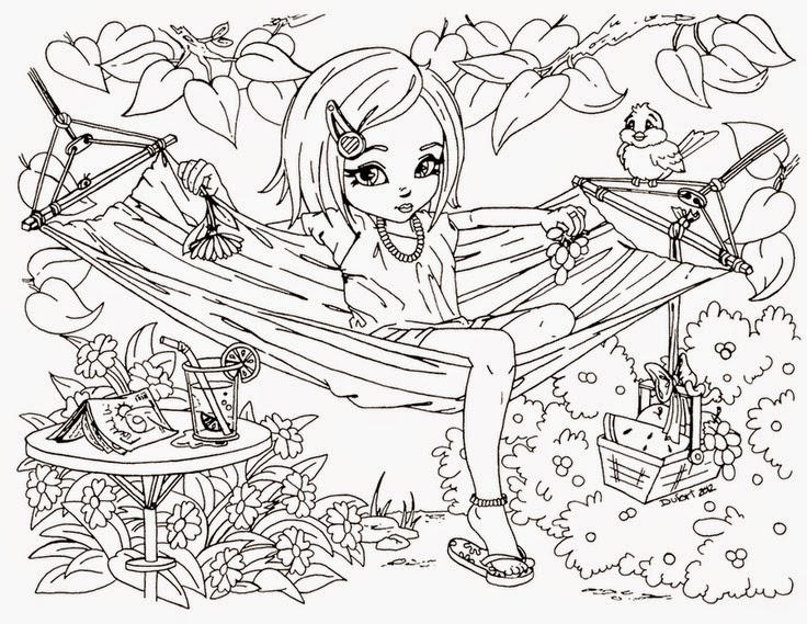 Free Coloring Pages For Teenagers Difficult Fairy