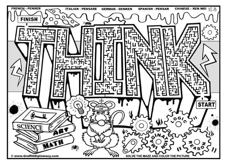 Free Coloring Pages For Teenagers Graffiti