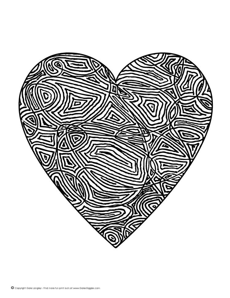 Free Coloring Pages Of Hearts For Teenagers Difficult 2
