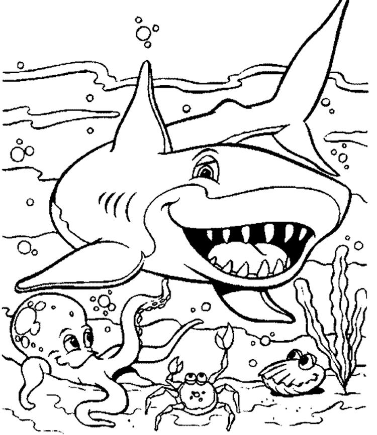 Free Coloring Pages Of Sea Animals