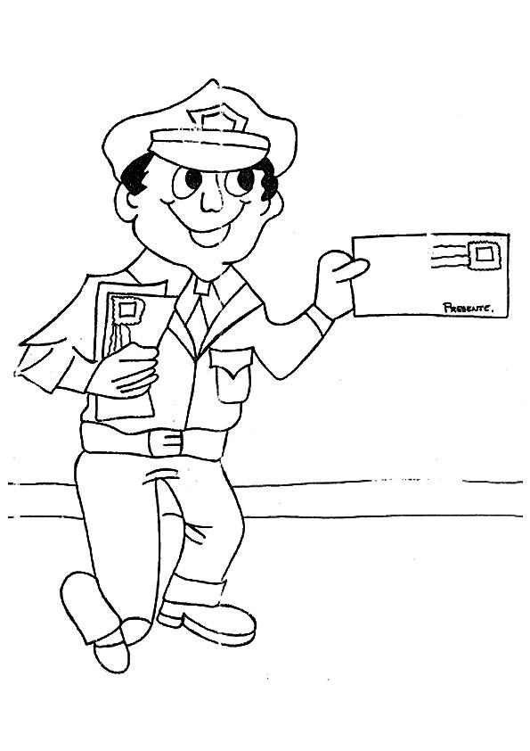 Free Community Helpers Coloring Pages For Kids