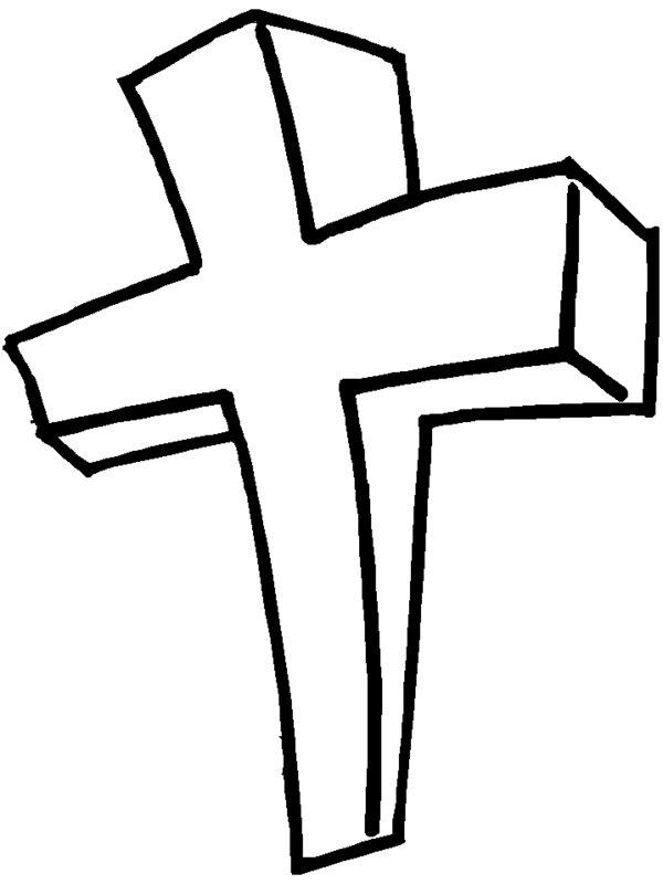 Free Cross Coloring Pages For Kids