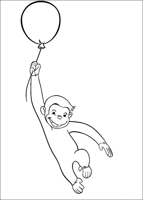 Free Curious George Coloring Pages For Kids 1