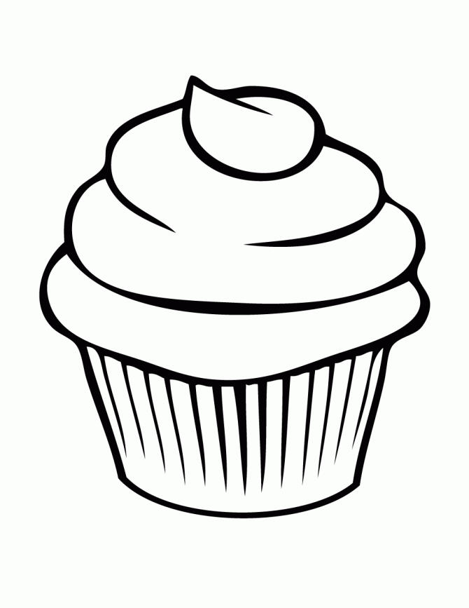 Free Cute Cake Coloring Pages