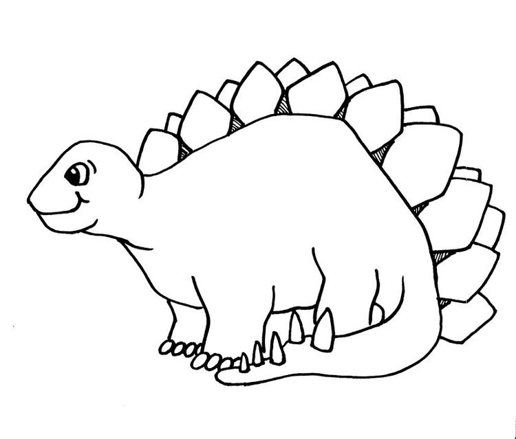 Free Cute Dinosaurs Coloring Pages 1