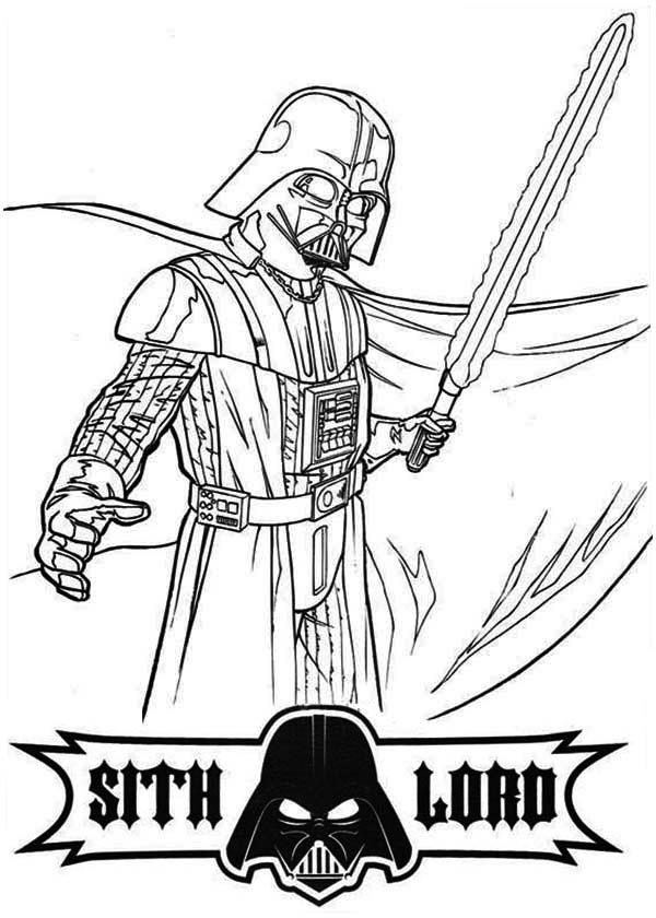 Free Darth Vader Coloring Pages For Kids