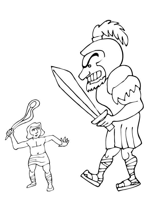 Free David And Goliath Coloring Pages To Print
