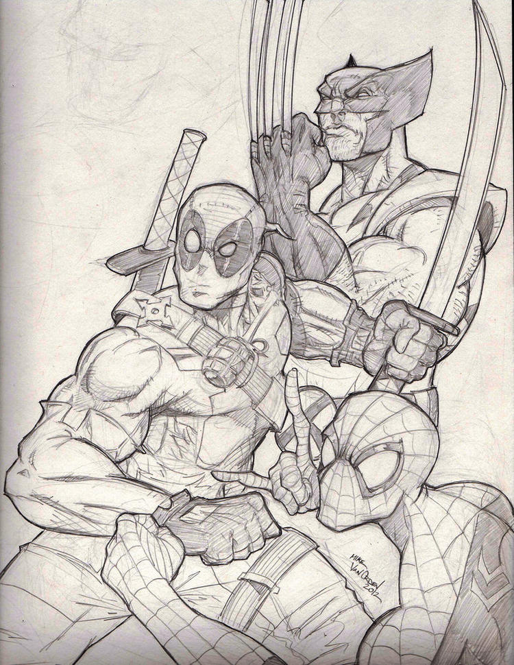 Free Deadpool And Wolverine Coloring Pages 2