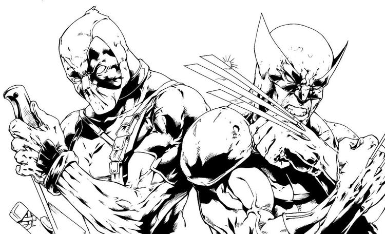 Free Deadpool And Wolverine Coloring Pages